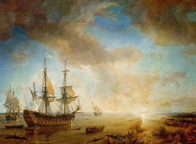 Fine Art Print of Expedition of Robert Cavelier de La Salle by Jean Antoine Theodore Gudin