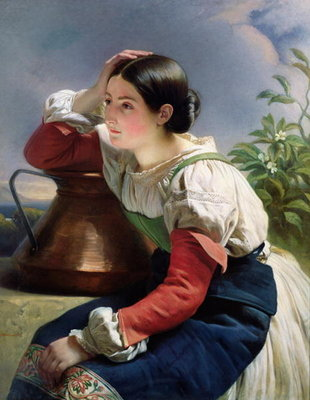 Young Italian at the Well, c.1833-34 (oil on canvas) by Franz Xaver Winterhalter - print