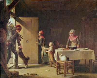 Fine Art Print of The Rustic Family, 1815 by Martin Drolling