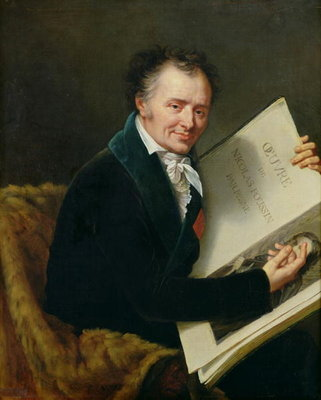 Fine Art Print of Portrait of Dominique Vivant by Robert Lefevre
