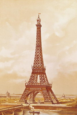 Fine Art Print of The Eiffel Tower, 1889 by French School