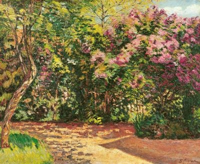 Lilac, the Artist's Garden (oil on canvas) by Jean Baptiste Armand Guillaumin - print