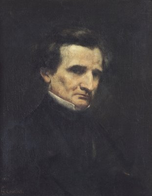 Fine Art Print of Hector Berlioz by Gustave Courbet