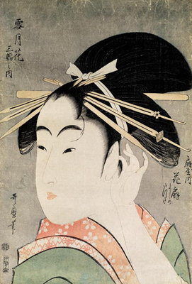 Fine Art Print of Head of a Woman by Kitagawa Utamaro