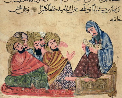 Fine Art Print of MS Ahmed III 3206 The Philosopher, illustration from 'Kitab Mukhtar al-Hikam wa-Mahasin al-Kilam' by Al-Mubashir by Turkish School
