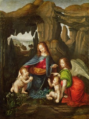 Fine Art Print of Madonna of the Rocks by Leonardo da Vinci