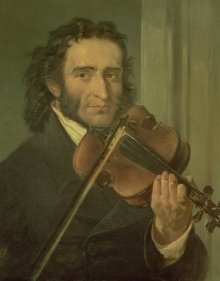 Fine Art Print of Portrait of Niccolo Paganini by Italian School