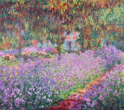 The Artist's Garden at Giverny, 1900 (oil on canvas) by Claude Monet - print