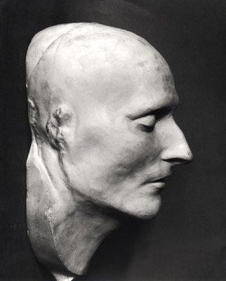 Fine Art Print of Death mask of Napoleon Bonaparte by French School