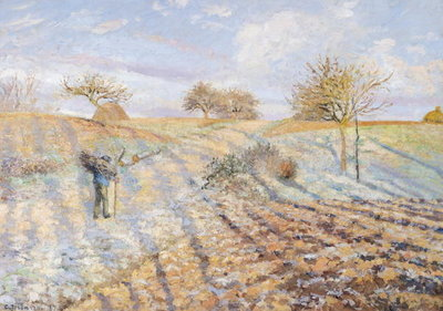 White Frost, 1873 (oil on canvas) by Camille Pissarro - print