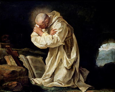 Fine Art Print of St. Bruno by Jean Bernard Restout
