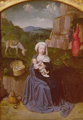 Fine Art Print of The Rest on the Flight into Egypt by Gerard David
