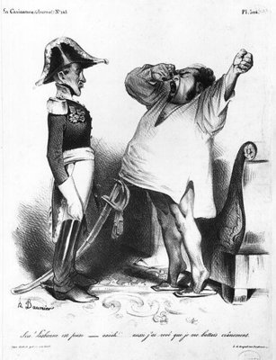 The Count of Villaflor telling Pedro I Poster Art Print by Honore Daumier