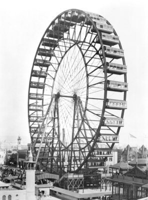 The ferris wheel at the World's Columbian Exposition of 1893 in Chicago (b/w photo) by American Photographer - print