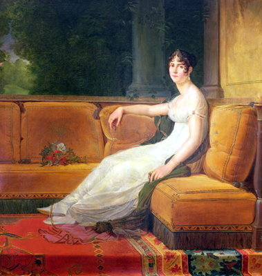 Empress Josephine (1763-1814) at Malmaison, c.1801 (oil on canvas) by Francois Pascal Simon, Baron Gerard - print