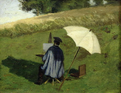 Desire Dubois Painting in the Open Air, c.1852 Poster Art Print by Henri Joseph Constant Dutilleux