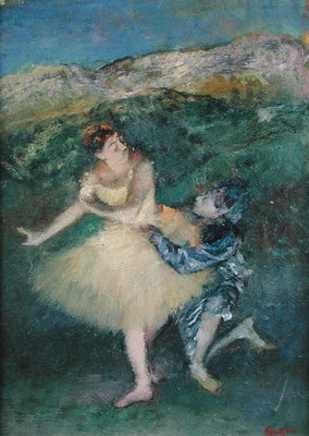 Fine Art Print of Harlequin and Colombine, c.1886-90 by Edgar Degas