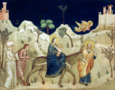 Fine Art Print of The Flight into Egypt by Giotto di Bondone