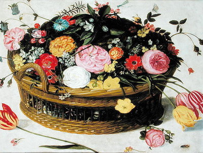 Basket of Flowers Poster Art Print by Jan Brueghel