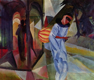 Fine Art Print of Pierrot, 1913 by August Macke