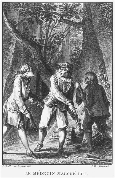 Fine Art Print of Illustration from 'The Doctor In Spite of Himself' by Jean Michel the Younger Moreau