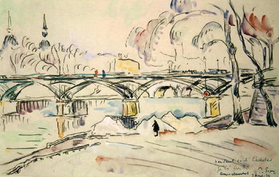 Fine Art Print of The Pont des Arts, 1924 by Paul Signac