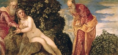 Susanna and the Elders Poster Art Print by Jacopo Robusti Tintoretto