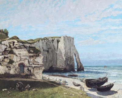 The Cliffs at Etretat after the storm, 1870 (oil on canvas) by Gustave Courbet - print