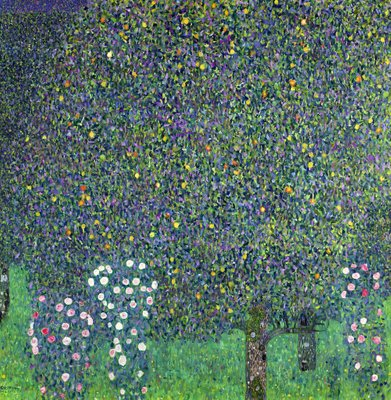 Roses under the Trees, c.1905 (oil on canvas) by Gustav Klimt - print