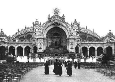 The Palace of Electricity at the Universal Exhibition of 1900, 1900 (b/w photo) by French Photographer - print
