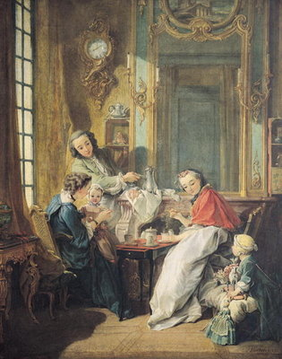 Fine Art Print of The Afternoon Meal, 1739 by Francois Boucher