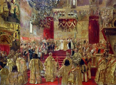 Fine Art Print of Study for the Coronation of Tsar Nicholas II by Henri Gervex