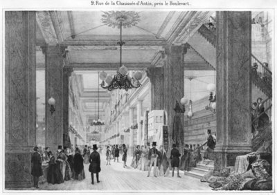 Fine Art Print of Fabric Shop, 9 rue de la Chaussee d'Antin by French School