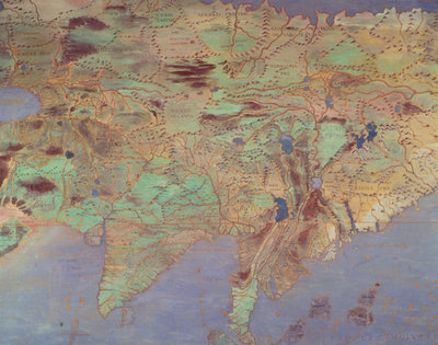 Map of Asia, from the 'Sala Del Mappamondo' (Hall of the World Maps) (fresco) by Antonio Giovanni de Varese - print
