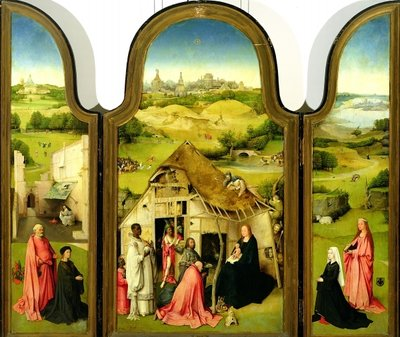 The Adoration of the Magi, 1510 (oil on panel) by Hieronymus Bosch - print