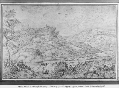 Fine Art Print of Landscape, 1553 by Pieter the Elder Bruegel