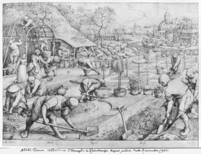 Fine Art Print of Spring, 1565 by Pieter the Elder Bruegel