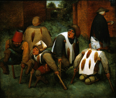 Fine Art Print of The Beggars, 1568 by Pieter the Elder Bruegel