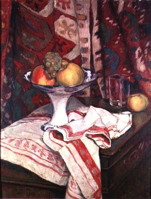 Still Life with Bowl of Fruit, 1912 (oil) by Georges Daniel de Monfreid - print