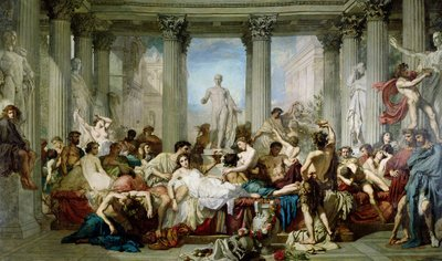 The Romans of the Decadence, 1847 (oil on canvas) by Thomas Couture - print