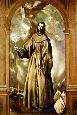 Saint Bernard of Clairvaux, 1603 (oil on canvas) by El Greco - print