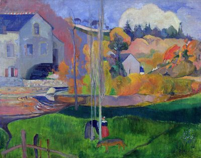 Brittany Landscape: the David Mill, 1894 Poster Art Print by Paul Gauguin