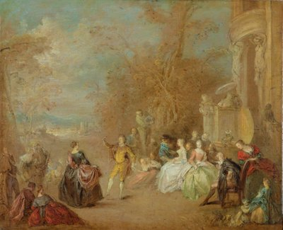 Fine Art Print of The Country Dance by Jean-Baptiste Joseph Pater