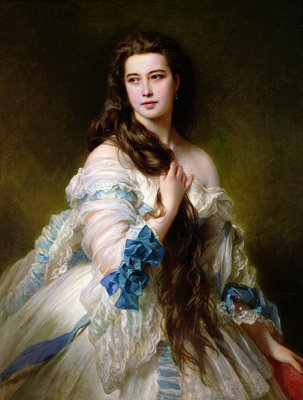 Portrait of Madame Rimsky-Korsakov (1833-78) nee Varvara Dmitrievna Mergassov, 1864 (oil on canvas) by Franz Xaver Winterhalter - print