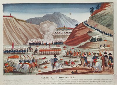 Battle of Somosierra on 30 November 1808 Poster Art Print by French School