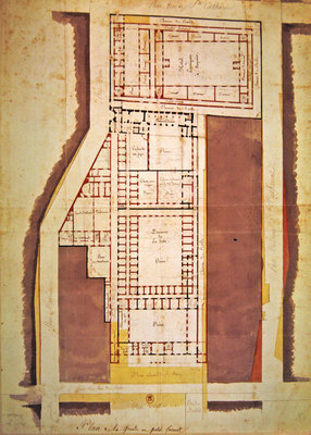 Plan of the Grande and Petite Force prison, rue du Roi de Sicile, Paris Poster Art Print by French School