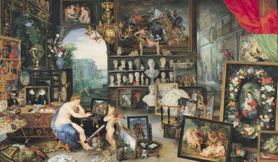 Fine Art Print of The Sense of Sight, 1617 by Jan Brueghel