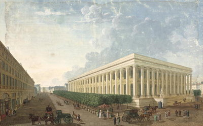 The Palais de la Bourse (gouache on paper) by Henri Courvoisier-Voisin - print