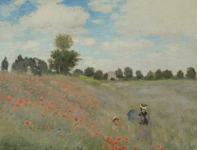 Fine Art Print of Wild Poppies, near Argenteuil by Claude Monet