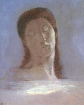 The Closed Eyes, 1890 Poster Art Print by Odilon Redon